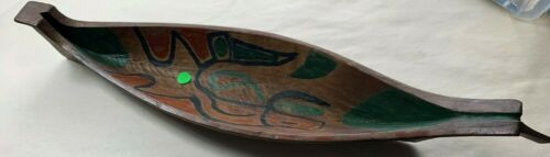 BEAUTIFUL PAINTED NORTHWEST COAST CANOE