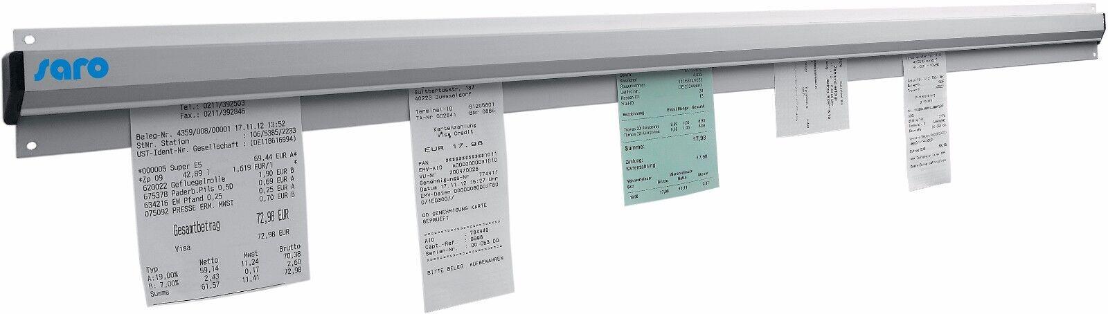 SARO Bonhalter 900 mm Bonleiste Bonschiene Zettelhalter Zettelleiste Aluminium