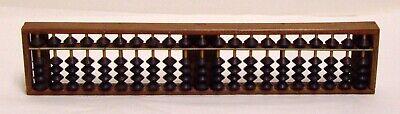 Vintage Japanese Wood Abacus Soroban Calculating Tool 21 Rows Digits 1/4 Beads