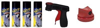 Plasti Dip 4 Matte Black Wheel Kit Spray Aerosol Cans Trigger Nozzle 2.0 Tip
