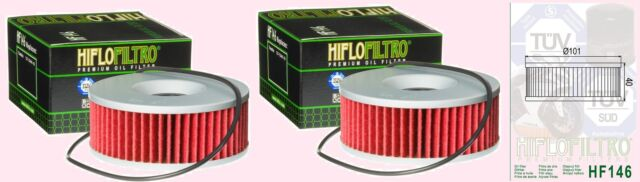 2x HF146 Oil Filter for Yamaha XS   XS750 & XS850 1977-81,    XS1100 1978-84