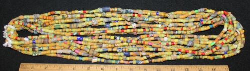 Bundle of (10) Long Strands of Sandcast Trade Beads #2 ....Buy It Now