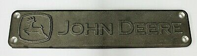 John Deere Original Equipment Metal Name Plate Emblem Medallion R531799 Plaque