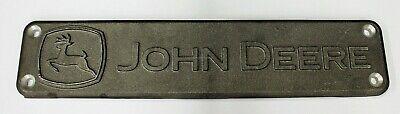 John Deere Original Equipment Metal Name Plate Emblem Medallion R531799 Plaque