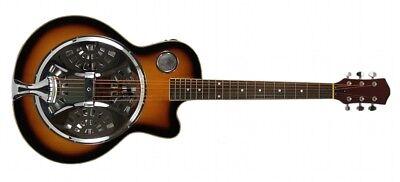 RESONATOR GUITAR Acoustic-Electric SEPELE SPRUCE Single Cutaway Steel Pan Blues