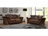 Brown Shannon Corner sofa or 3+2 sofas only a few on offer, ring tonight to book in a delivery