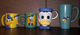 4 Donald duck Disney mugs