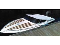 15 1/2 foot Broom Speed boat (90 Mariner engine) with Snipe Trailer