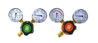 Sa - Oxygen And Propanepropylene Regulators Weld Gas Gauges - Rear Entry - Ldp