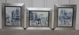 Oil paint on canvas 3 pictures set by Duchamp professionally framed