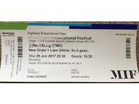 1 x New Order + Liam Gilliam: So it goes Manchester International Festival Old Granada Studios