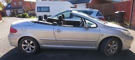 .2006 PEUGEOT 307CC HARD TOP CONVERTIBLE . 1.6 PETROL . 12 MONTHS MOT . NO ADVISORIES