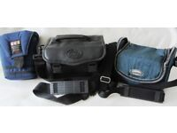 THREE CAMERA BAGS in GOOD CONDITION. BARGAIN AT JUST £1 EACH