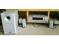 Yamaha home cinema system (RX-V361 5.1 Channel 100 Watt Receiver + NS-P110 5.1 speaker package)