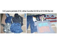 bundle of boys clothes 5-6 years and 6-7 prices in photo collection from didcot