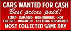 Scrap cars ,vans,4x4 wanted best price paid