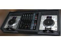 2x DENON 3500 cd decks in custom padded box Moving platters DJ mix gear CAN SELL SEPARATELY