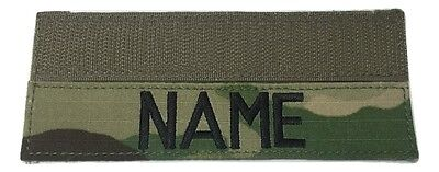 MULTICAM  OCP Custom NameTape with Fastener, US Army Military