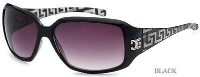 Neu Groß Damen Mode CG Eyewear Sonnenbrille UV Schutz - Schwarz