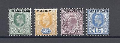 MALDIVE ISLANDS 1906 SG 2/5 MINT Cat £207