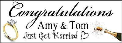 r Married Glückwünsch Hochzeit PVC Design Bedruckt (Glückwünsche Hochzeit-banner)