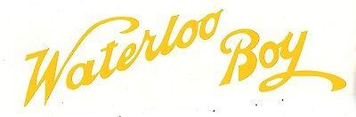 Waterloo Boy Gas Engine Motor Decal Hit Miss Flywheel Antique John Deere