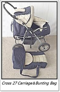 Baby Carriage / Stroller with Bunting Bag