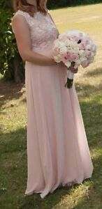 Robe longue pour DH ou en soirée, blush / rose pale, médium