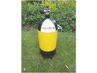 12ltr steel 232bar dumpy Faber air cylinder.