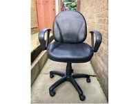 Adjustable Black Leather Office Chair £5!!
