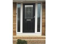 Great Condition Black External Composite Door