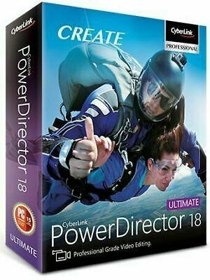 CyberLink PowerDirector Ultimate 18   Lifetime License_30 Second_Fast Shipping