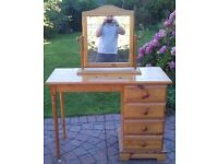 Dressing Table, Pine with Mirror