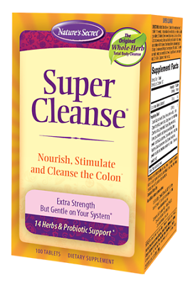 Nature's Secret Super Cleanse, 100 Tablets, 1 Bottle