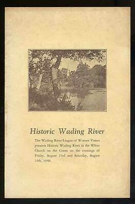 Used, Evelyn Hudson ROWLEY / Historic Wading River First Edition 1940 for sale  Gloucester City