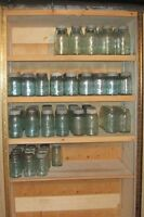 Antique Crown Sealers/Fruit Jars (blue)