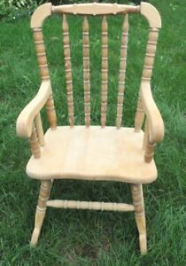 CHILDS ROCKING CHAIR,  SOLID WOOD MAKE BY HAND BY A ARTISAN