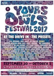 2 x Yours and Owls Weekend festival and Camping tickets Elwood Port Phillip Preview