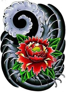 www.nhoitattoo.com Japanese style flower tattoo Cranebrook Penrith Area Preview