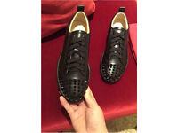 Rare men's Christian Louboutin leather junior spikes Loubs brand new