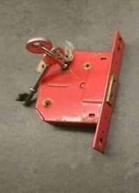 mortise lock, 3 keys