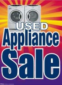 FRIDAY SATURDAYS BIG APPLIANCE SALE!! CLEARING OUT STOCK!! 16665 111 AVE FULL ONE YEAR WARRANTY!!!