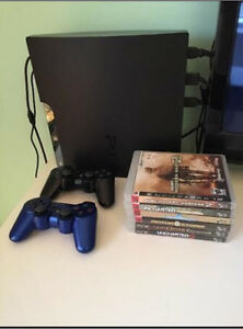 PS3 - Like New; 2 Controllers, 6 Games