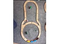 Brio / compatible wooden train set with accessories