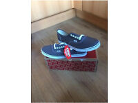Brand new in box grey Vans Lo Pro size 7