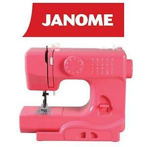 NEW JANOME PORTABLE SWEING MACHINE 10 STITCHES, 4 PIECE FEED DOG - PINK 110292346