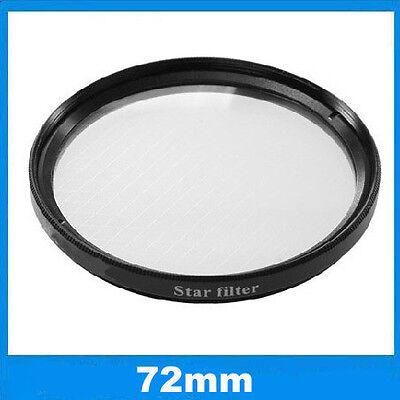 Filtre effet étoilé à 6 branches Ø72mm Star-6 pour Nikon, Canon EOS, Sony