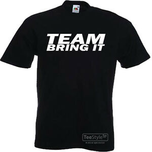 NEW THE ROCK TEAM BRING IT BOOTS TO ASSES ADULT T-SHIRT WWE ALL SIZES