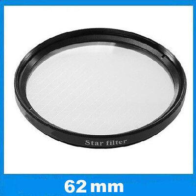 Filtre effet étoilé à 4 branches Ø62mm Star-4 pour Nikon, Canon EOS, Sony