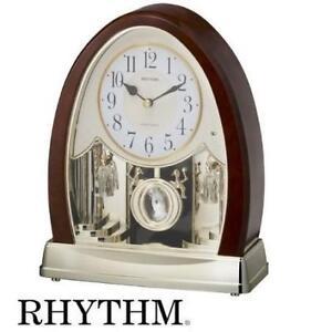 NEW MUSICAL MOTION MANTEL CLOCK 4RJ636WD23 212356283 Rhythm Clocks Joyful Crystal Bells TIME